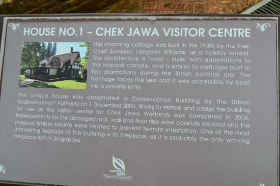 English house (with fire place) at Chek Jawa