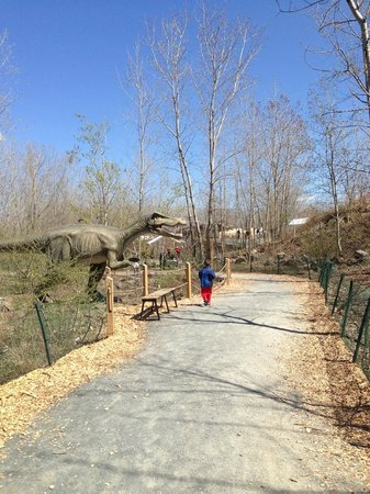 Field Station: Dinosaurs: Dinosaur along the path