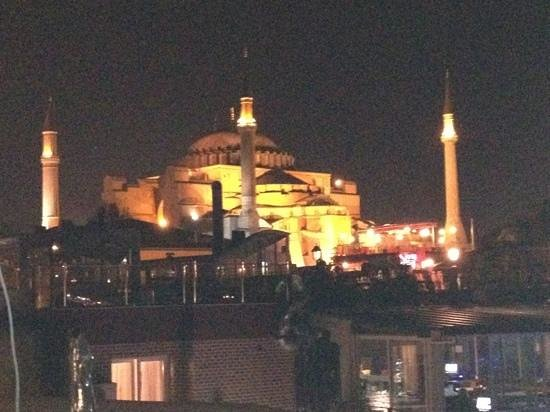 Tria Elegance Istanbul : Blue Mosque from Tria Rooftop Restaurant