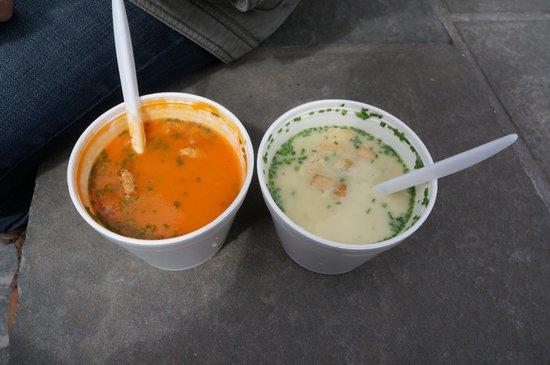 Soup'R: Tomato soup and Asparagus soup
