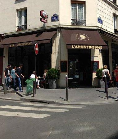 L'Apostrophe : Restaurant façade