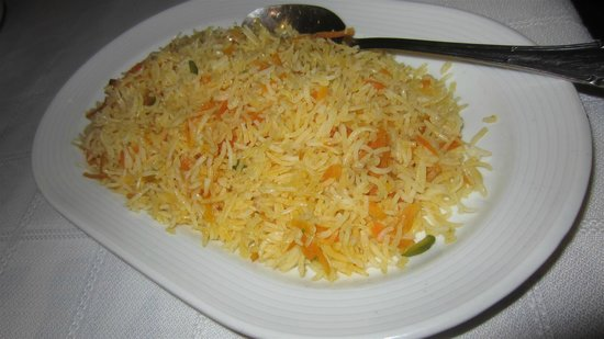 Esfahan: Rice with orange zest, pistachios and cardamom