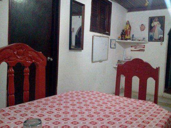 Dona Magalis: La zona donde se sirven el desayuno y la cena