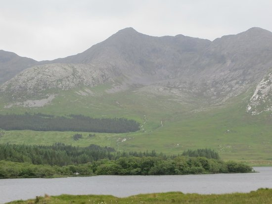 One of the many views from Lough Inagh Lodge