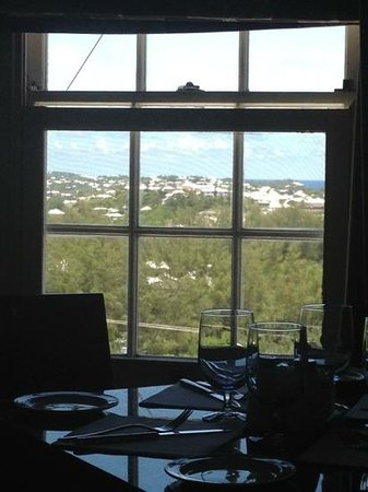 The Dining Room at Gibb's Hill Lighthouse : View east down the island.