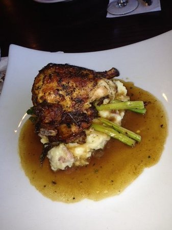 Delia's Mediterranean Grill & Brick Oven Pizza: Roasted chicken and mashed potatoes