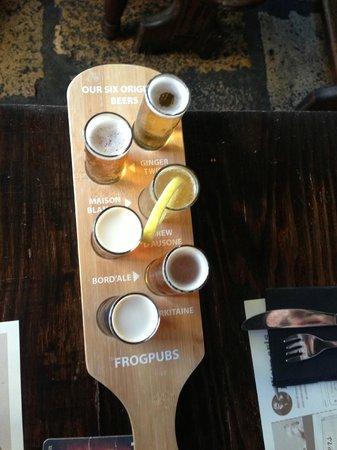 The Frog & Rosbif : Beer tasters