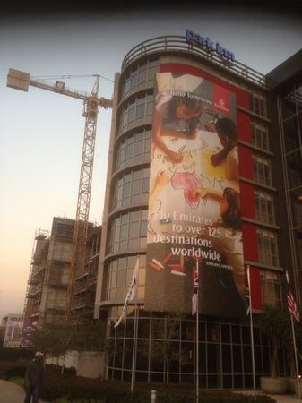 Park Inn Sandton: construction next door 12/7/13