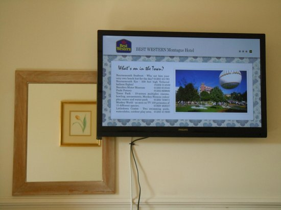 Best Western Montague Hotel: Modern flatscreen tv