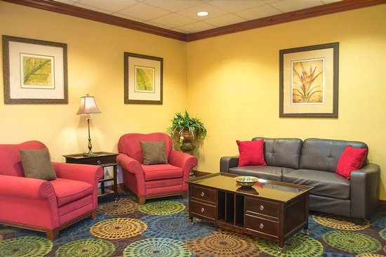 Holiday Inn Express Tampa Fairgrounds : Lobby sitting area