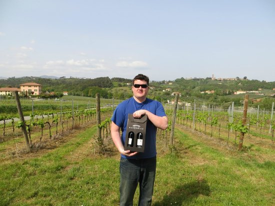 Buonamico Tenuta : Our son enjoyed the wine tasting and took some home.
