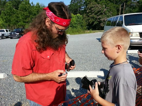 West Monroe, LA: Willie Robertson signing my son's duck call.