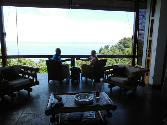 Tulemar Bungalows & Villas: Morning coffee with a view