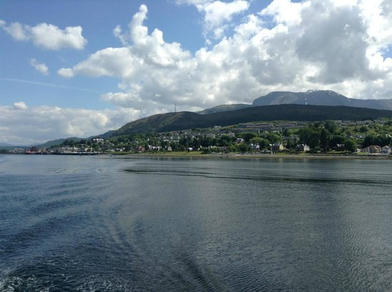 Argyll House: view from crannog cruise over fort william with nevis in the background! bliss