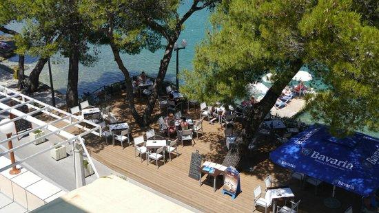 Hotel Cavtat: Hotel terrace
