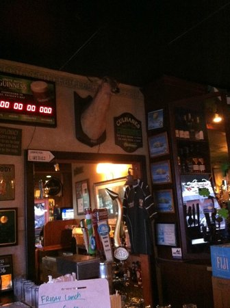 Culhane's Irish Pub: the eclectic wall