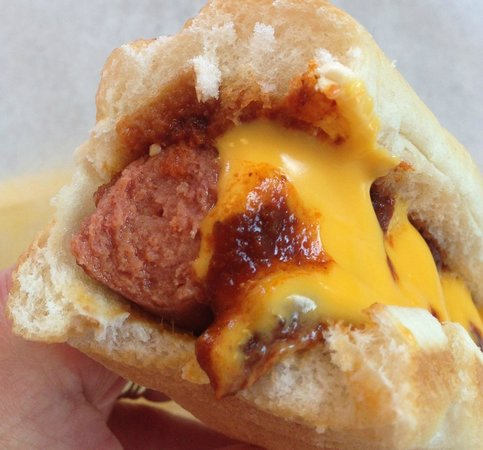 Wow Dawgs: My Chili Dog with Red New Mexico Chile & Cheese