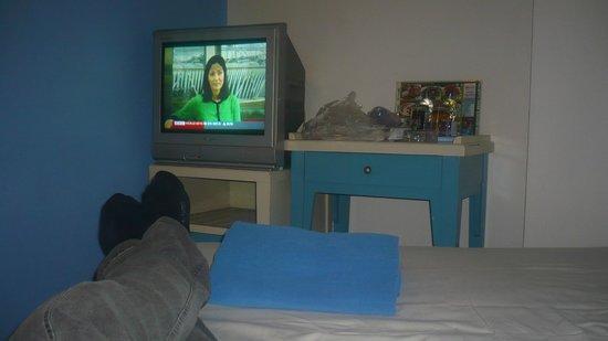 โรงแรมสวัสดี บางลําพู อินน์: Chambre vue du lit