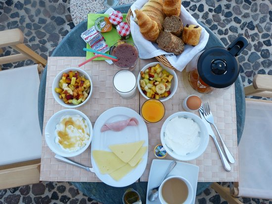 Stefani Suites: Our breakfast choice