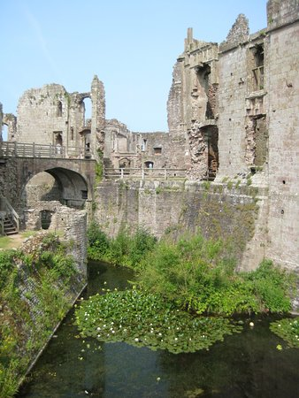 Raglan Castle: A different view from the norm