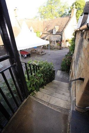 The Plough Inn at Ford: Stairs to room