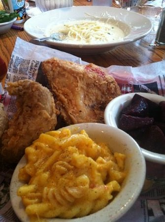 Indian Lake Restaurant  & Tavern: Killer fried chicken dinner with homemade Mac n' cheese and fresh roasted beets.