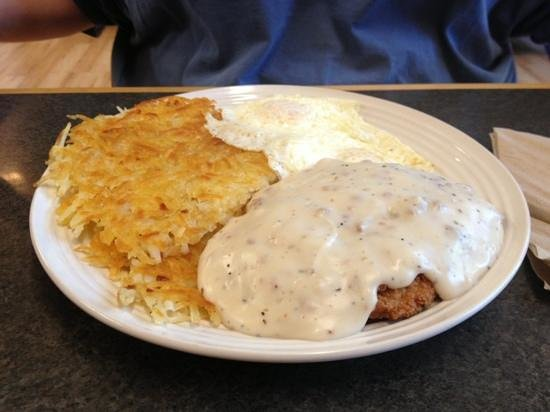 Country Fried Steak Breakfast Picture Of The Block House Cafe Dayton Tripadvisor