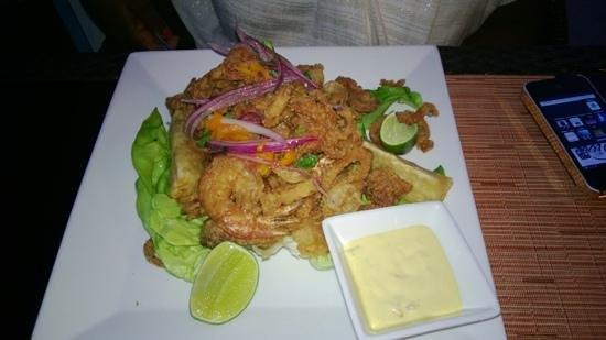 Panorama Restaurant & Sky Lounge : Jalea de Mariscos - Crispy fried fish and shell fish