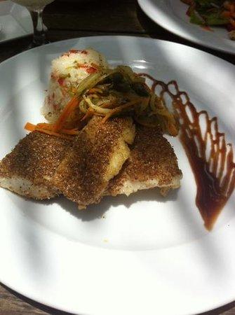 Rancho Encantado: coriander seed crumbed fish