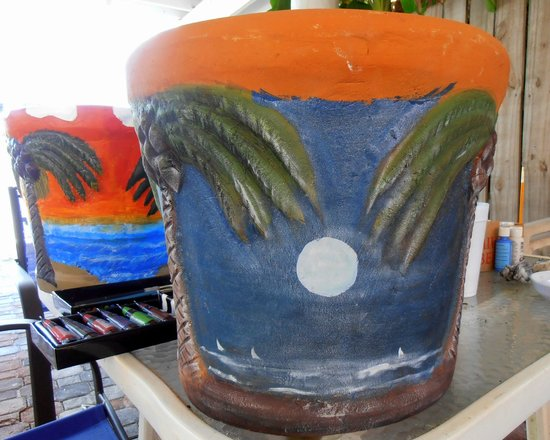 SPI Cabanas : Pottery fun with Edie and Bob