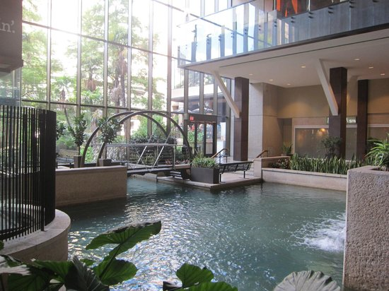 the basement lobby area picture of hyatt regency san. Black Bedroom Furniture Sets. Home Design Ideas