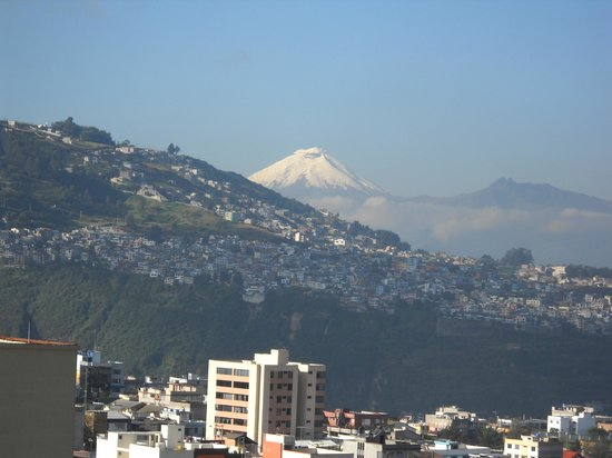 NH Collection Quito Royal: Antisana Volcano from Our 10th Floor Room