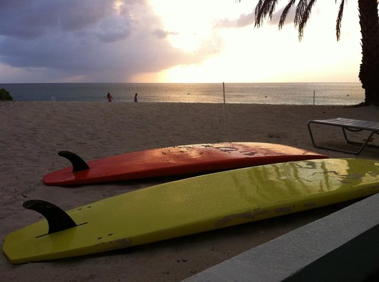 Cayman Stand Up Paddle Co: SUP sunset on seven mile beach