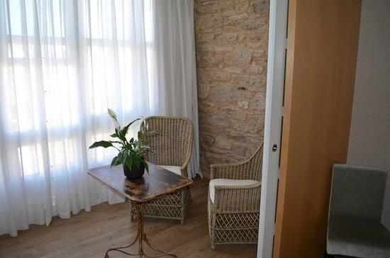 Hotel Gastronómico San Miguel: terraza de la habitacion del tercer piso