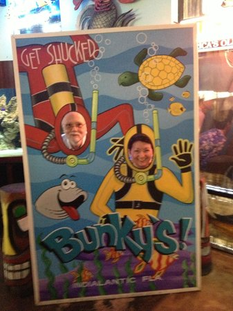 "Bunky's Raw Bar & Seafood Grille: Photo Op, ""Get Shucked"" at Bunky's."