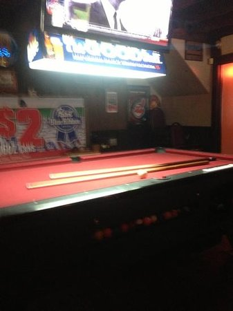 Yop's Time Out Grille: great place to shoot pool and drink some beers