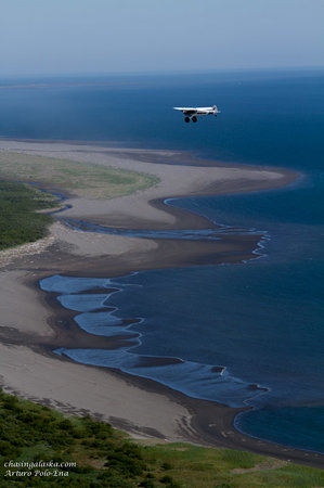 Ultima Thule Lodge: Super Cub flying safari along the Pacific coastline
