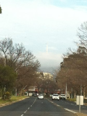 Tall Trees Hotel: Foggy morning Canberra