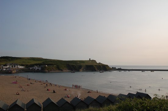 Life's a Beach: View over Bude harbour.