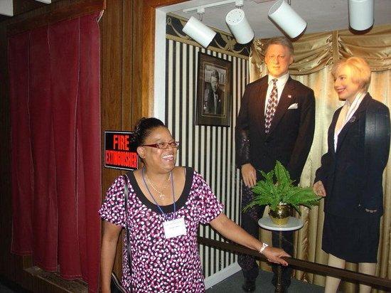 Josephine Tussauds Wax Museum : Wax figures of Bill and Hillary Clinton