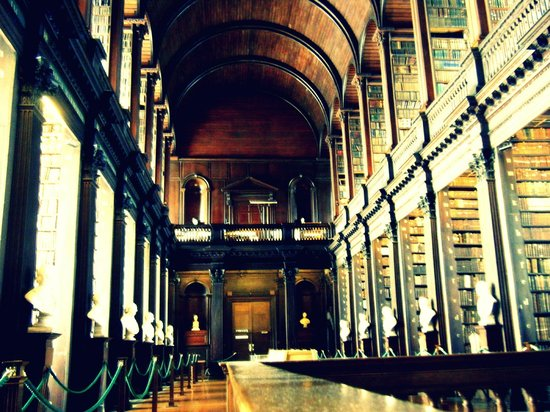 Long Foyer University : Trinity college library long hall picture of