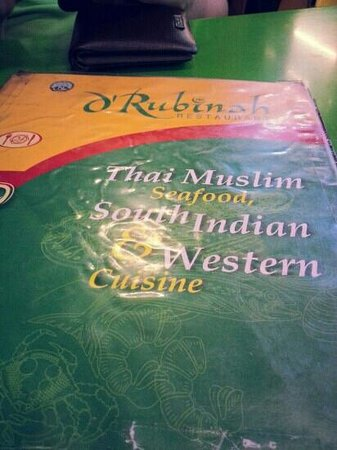 D' Rubinah Eating House, Sembawang: the menu