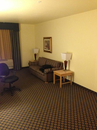 Hampton Inn & Suites San Jose: The half of the room with furniture
