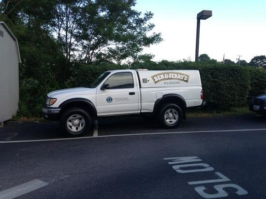 "Brickley's Ice Cream : Ben & Jerry's distributors at Brickleys??? ""We like your ice cream better so we park in the back"