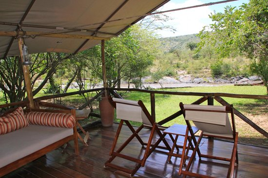 Karen Blixen Camp: View looking out from our tent