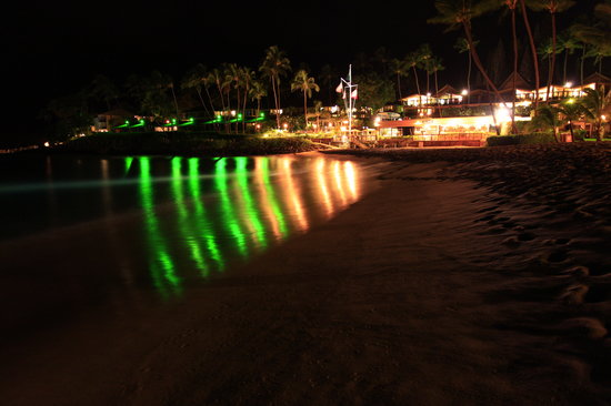 Napili Kai Beach Resort: The beach and restaurant at night - tunliweb.no