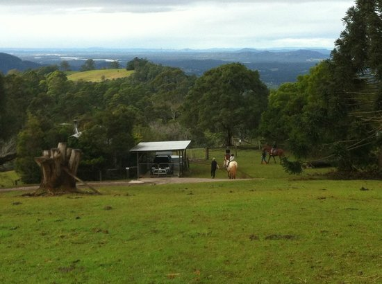 Brockhurst Farm: Lead horse ride with the view of Brisbane