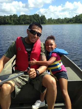 Little Pee Dee State Park: fishing out on the boat