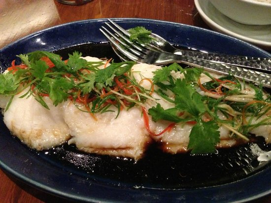 China House : Steamed Basa - Cantonese style