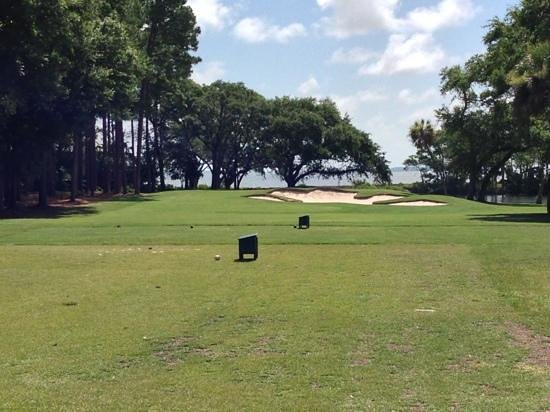 Oyster Reef Golf Club: #6, the only truly pretty hole at Oyster Reef.